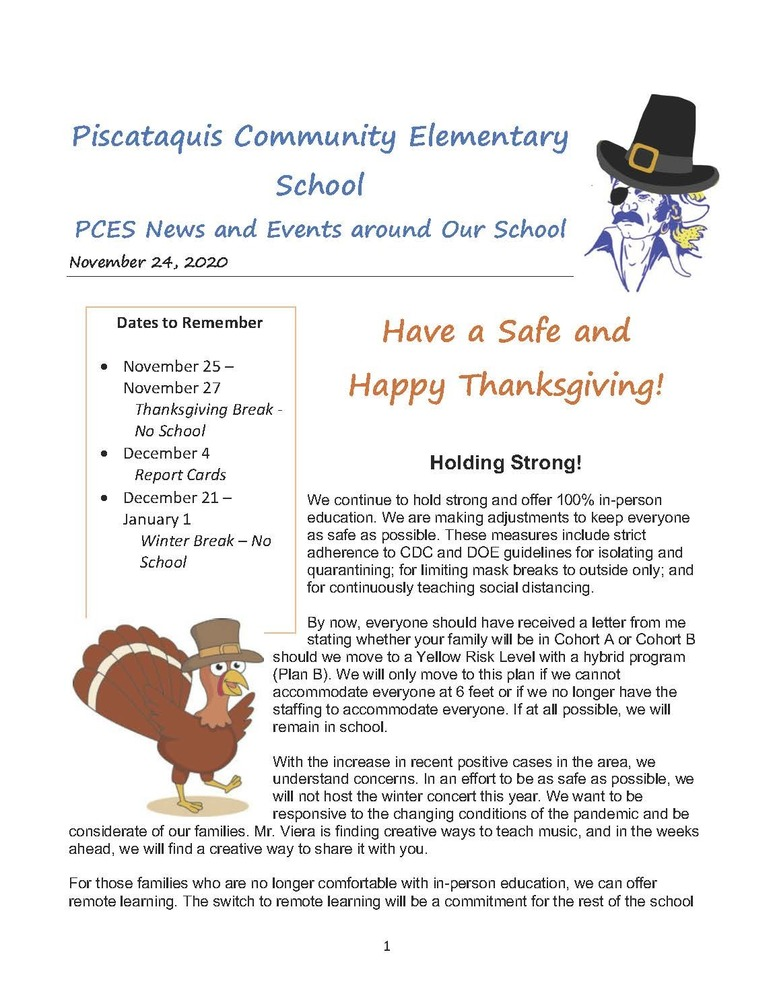PCES November Newsletter